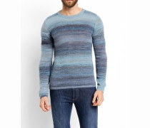 Co Dale Printed Yarn Jumper Blue