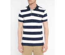 Marineblaues gestreiftes Poloshirt