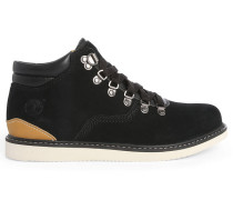 Black Newmarket Hiker Suede Boots