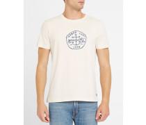 T-Shirt in Ecru mit Logo