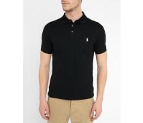 Polo Slim Fit Strech, schwarz