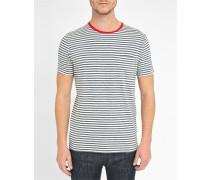 T-Shirt Admiral gestreift rot abgesetzt