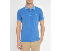 Blaues gebleichtes Poloshirt