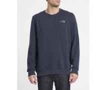 Marineblaues Sweatshirt mit Rundhalsausschnitt Logo North Face Street Fleece