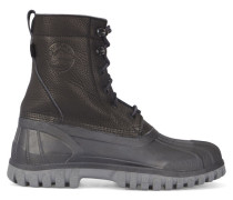 Boots Anatra aus schwarzem Leder