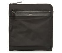 Schwarze kleine Tasche aus Leder und Nylon