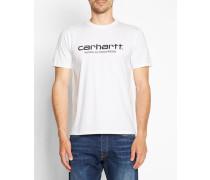 Weißes T-Shirt mit Rundhalsausschnitt und WIP-Logo