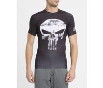Schwarzes T-Shirt Compression Punisher