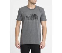 Graues T-Shirt mit Rundhalsausschnitt und Logo S/S Easy Tee