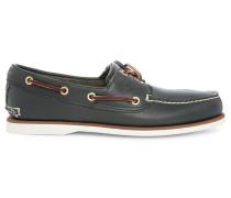 Bootsschuhe Two Eye aus marineblauem Leder