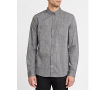 Anliegendes Hemd ButtonDown aus Mikrofaser Irie City in gemischtem Grau