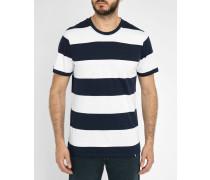 Gestreiftes T-shirt Terje weiß - marineblau