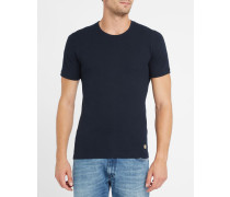Doppelpack T-Shirts in Weiß und Marineblau