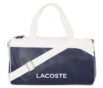 Marineblaue und weiße Messenger Bag