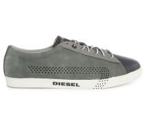 Schwarze niedrige Sneaker Bikkren