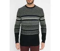 Schwarz-grauer Grafik-Pullover Corning