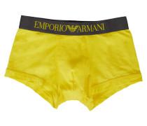 Gelbe Boxershorts mit Bildzeichen am Bund