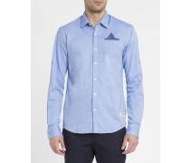Blaues Oxfordhemd mit Tasche