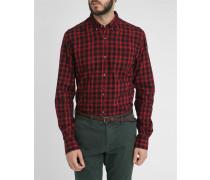 Rot-schwarz kariertes Flanellhemd