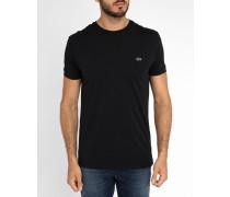Schwarzes kurzärmeliges T-Shirt