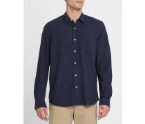Blaues Seidenhemd