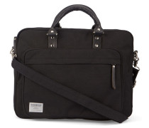 Schwarze Aktentasche mit Reißverschlusstasche Pontus