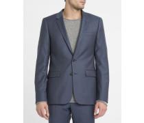 Marineblaue Anzugjacke aus Wolle