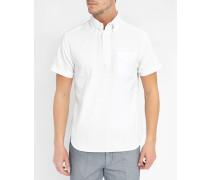 Weißes Oxford-Hemd Pop Over