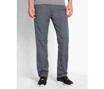 Chino-Hose Straight Fit Station Dunmore in Washed-Dunkelgrau