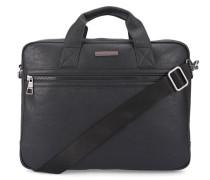 Schwarze genarbte Aktentasche Briefcase Essential PU