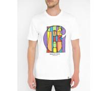 T-Shirt mit Rundhalsausschnitt College Pr Weiß