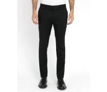 Schwarze Slim-Chino-Hose aus Stretch-Baumwolle