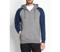 Marineblaues Sweatshirt mit Reißverschluss Samuel