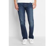 Ausgewaschen dunkelblaue Jeans Straight Fit Oakland Edgewood