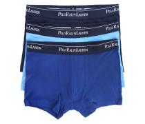 Set mit 3 blauen Boxershorts aus Stretchbaumwolle