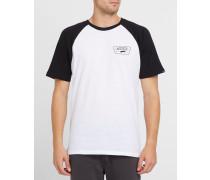 Raglan-T-Shirt in Schwarz-Weiß
