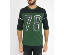 T-Shirt mit Rundhalsausschnit in Grün und Pluto
