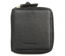 Schwarze Brieftasche Aina Zipper