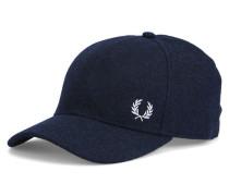 Blaue Wollkappe mit Logo