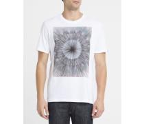 Weißes T-Shirt mit Sunny-Aufdruck