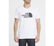 Weißes T-Shirt mit Rundhalsausschnitt und Logo S/S Easy Tee
