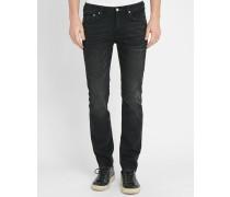Antrazitgraue Slim Jeans washed