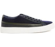 Sneaker aus Flanell marineblau Poppy