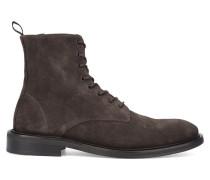 Stiefel aus braunem Wildleder