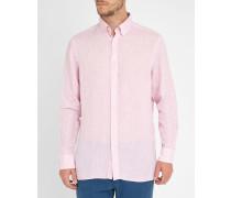 Hellrosa Slimfit-Leinenhemd Plain Linen