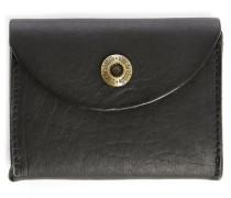 Schwarzes Leder-Portemonnaie Talbin