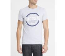 Graues T-Shirt mit Rundhalsausschnitt und -Logo