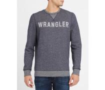 Sweatshirt mit Rundhalsausschnitt, grau meliert, -Logo