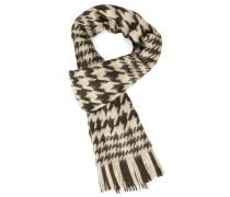 Schwarzer Schal mit Hahnentrittmuster