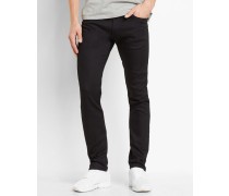Feste Jeans Slim Tapered Fit Stretch Lycra Rebel Towner in Schwarz